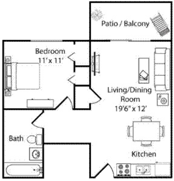 Colorado Springs Co Apartment The Flats At Pinecliff Floorplans